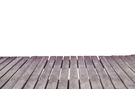 Wooden bridge isolated on a white background.