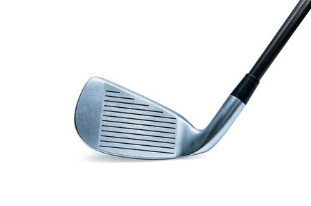 Modern golf club isolated on white background.