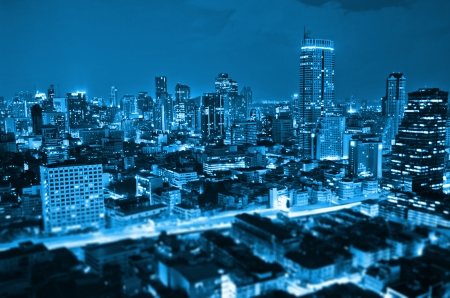 Landscape Bangkok city at twilight, high angle. Stock Photo - 16666781