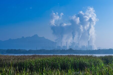 Mae Moh coal power plant in Lampang, Thailand. photo