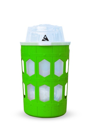 Green bins. Support for biodegradable waste. Perishable organic matter decomposition.