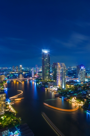 The Modern building Downtown business district of Bangkok. photo