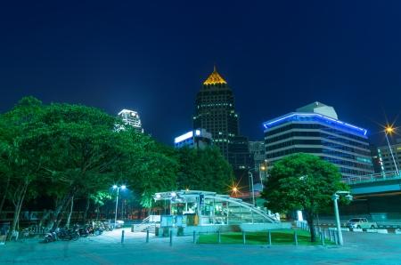 lumpini: Landscape evening at Lumpini Park, Bangkok Thailand