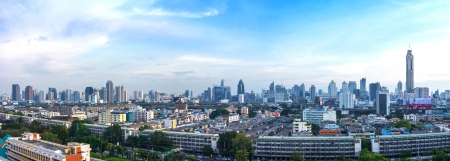 Panorama cityscape, modern building  Bangkok Business district
