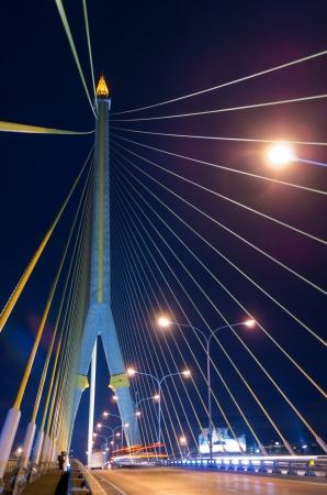 rama: Rama VIII Bridge. Beautiful sky at sunset.