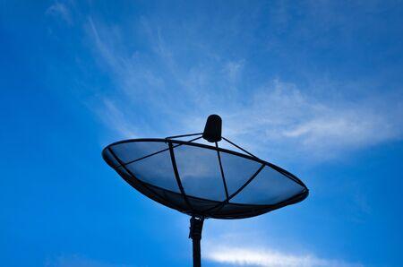 Satellite dish for communication. Network technology. photo