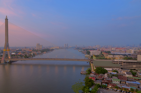 Rama VIII Bridge, a bridge over the Chao Phraya River in Bangkok 13. photo
