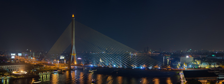 Rama VIII Bridge, a bridge over the Chao Phraya River in Bangkok. photo