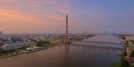 viii: Rama VIII Bridge, a bridge over the Chao Phraya River in Bangkok 13. Stock Photo