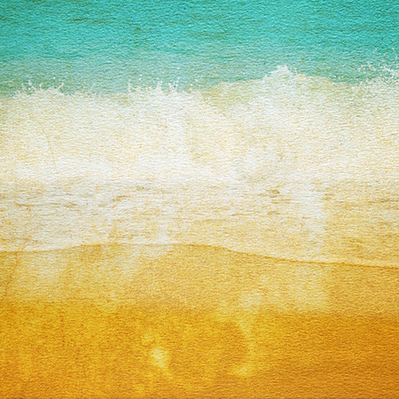 paper texture High quality files with beach. Stock Photo
