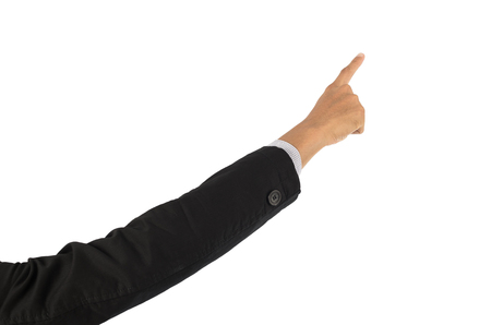 stood: Finger Business That stood out to touch Isolated on white background with clipping path.