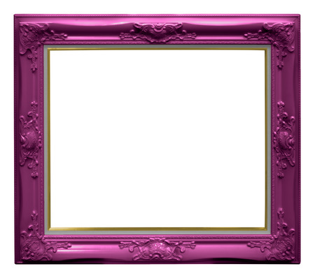 Luxury pink frame isolated on white background with clipping paths.