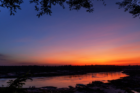 gully: Sunrise on the Mekong River, the Grand Canyon of Thailand.