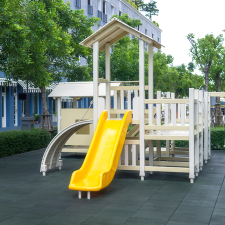 provided: Playground Set empty. In the areas provided for children.