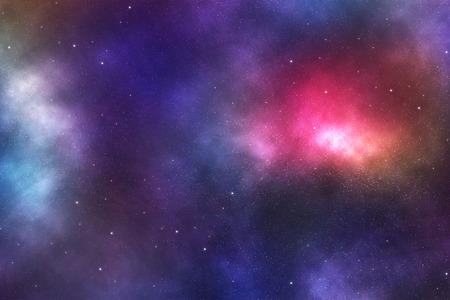 nebulae: Beautiful night sky with colorful nebulae and galaxies. Stock Photo