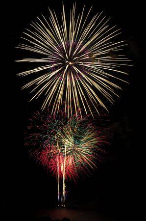 hua: Firework celebration at the beach, Hua Hin, Thailand.