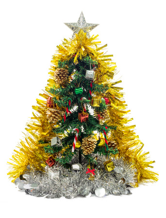 Christmas Tree Decorations With Gift Box Pine Cones Bells Umbrella Ball And