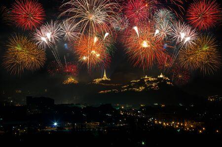 wang: The annual fireworks celebration, Nakhon Khiri Historical Park. Phetchaburi Province