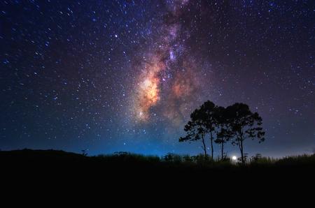 Milky Way above the tree, Doi Samer Dao - Si Nan National Park, Na Noi, Nan.