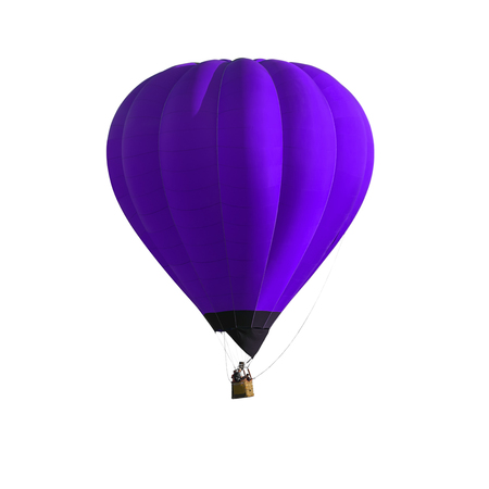Purple or violet Hot air balloon isolated on white background Stock fotó