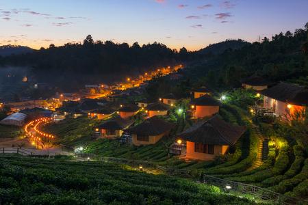 Sunrise at Ban Rak Thai a Chinese settlement, Mae Hong Son, province Northern Thailand.