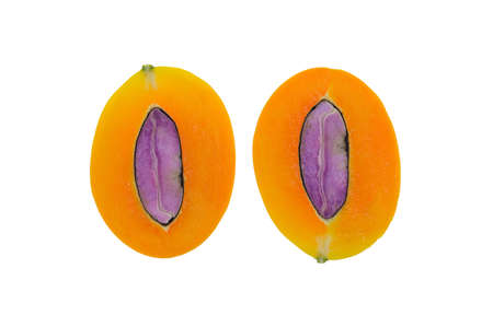 Maprang is the name of a tropical fruit in the family. Anacardiaceae (Same family as mango, olive, etc.) originated in Southeast Asia, Marian Plum, Plum Mango (Bouea macrophylla Griffith).