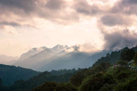Monsone Viewpoint at Doi Angkhang, Chiang Mai Thailand. Stock Photo