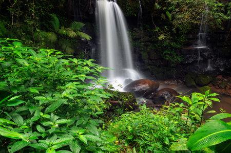 Beautiful Sapan Waterfall at Khun Nan National Park, Sapan village, Boklua District, Nan Province, Thailand.