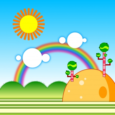 breezy: Rainbow in the sky so beautiful Illustration