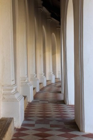 embrasure: Embrasure in the temple Stock Photo
