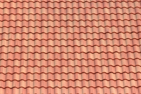 Detail of a red clay tile roof Stock Photo - 18756721