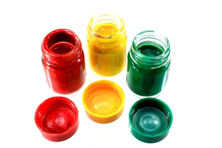 three color gouache Stock Photo