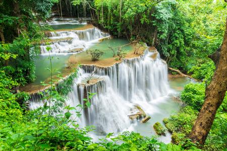 kanchanaburi: Waterfall in Kanchanaburi Stock Photo