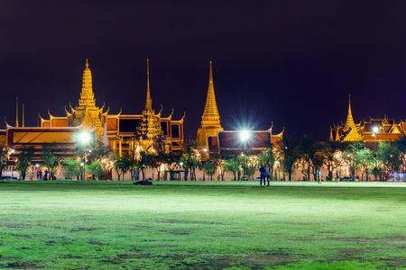 gold: Wat Phra keaw or Wat Phra Si Rattana Ratasadaram Bankok in thailand. Stock Photo