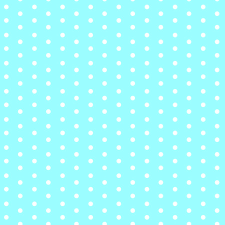White dots on blue background seamless pattern vector.