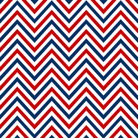 Chevron marine white red blue seamless pattern vector. Çizim