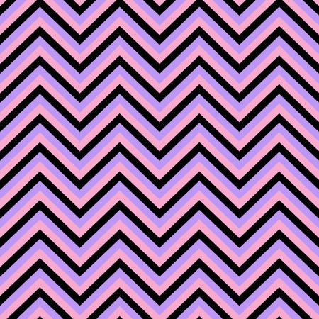 Chevron pink black purple seamless pattern vector illustration.