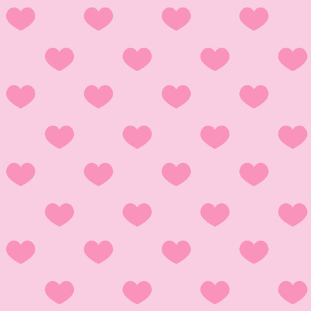 Pink hearts on a pink background valentine love pattern seamless vector. Ilustrace