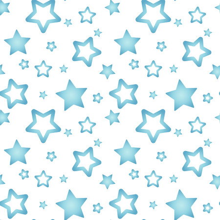 blue nacre stars on a white background pattern seamless vector.