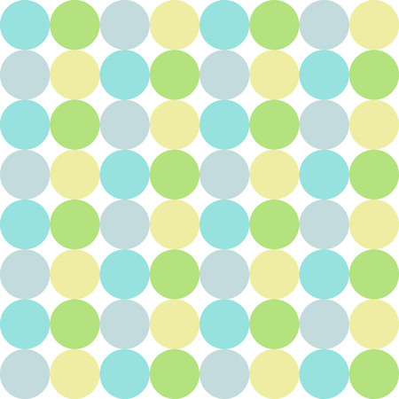 colorful circles blue green gray yellow pastel seamless pattern vector.