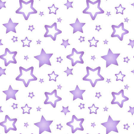 purple nacre stars on a white background pattern seamless vector.