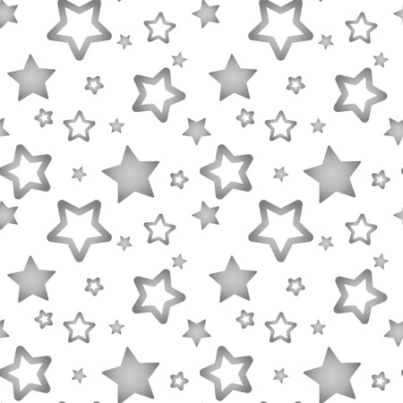 silver gray stars on a white background pattern seamless vector.