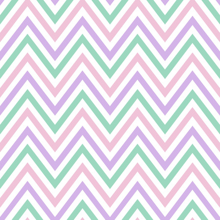 chevron pastel colorful spring pink white purple green turquoise pattern seamless vector.