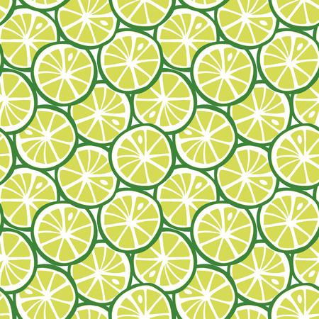 fruit green lime citrus tropical summer pattern seamless vector.