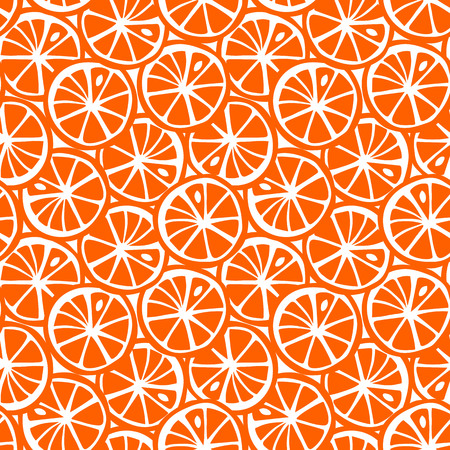 fruit orange citrus tropical summer pattern seamless vector. Vettoriali