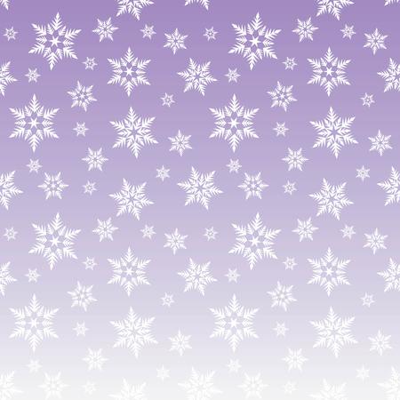 white snowflakes snow on purple sky gradient winter christmas pattern seamless vector. Vettoriali
