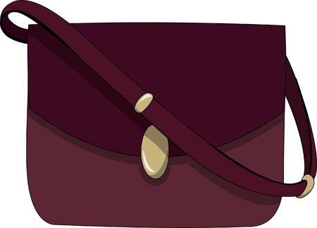 Red currant ladies bag in cartoon illustration.