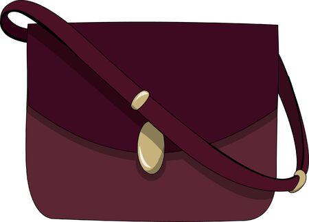 Red currant ladies bag in cartoon illustration.