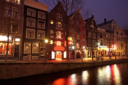 Red light district in Amsterdam The Netherlands