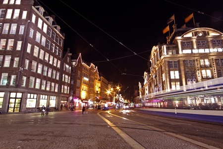 Christmas on the Dam square in Amsterdam the Netherlands
